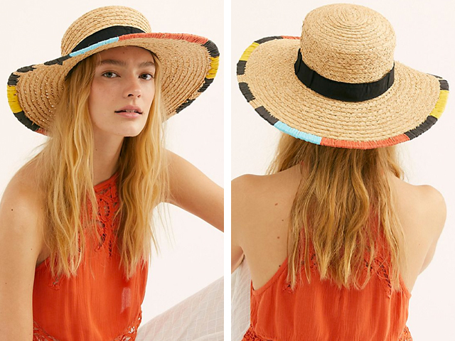 Free People Cabana Straw Boater.