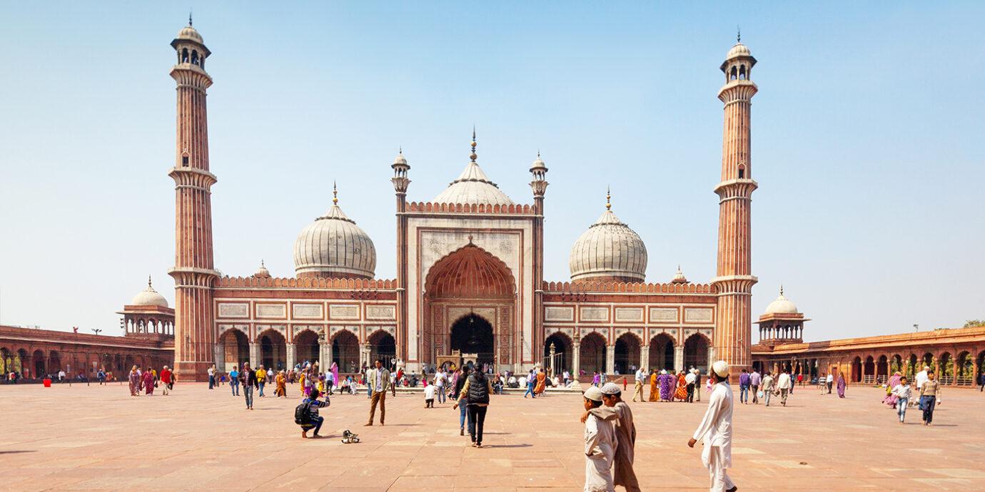 Jama Masjid Mosque Old Delhi, India.