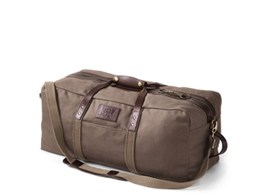 Lands End Waxed Canvas Travel Duffle Bag.