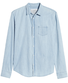 Luke Regular Fit Chambray Button-Up Sport Shirt FRANK & EILEEN.