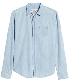 Luke Regular Fit Chambray Button-Up Sport Shirt FRANK & EILEEN.