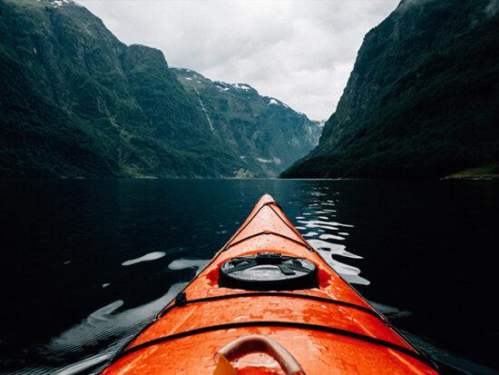Person Kayaking.