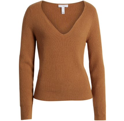 Shaped Neck Sweater LEITH.