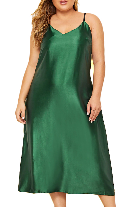 Shein Plus Satin Cami Night Dress.