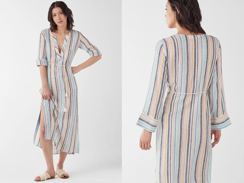 Splendid X Gray Malin Playa Stripe Caftan.
