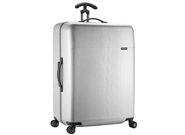 "Traveler's Choice Solon 30"" Hardside Checked Spinner Luggage."