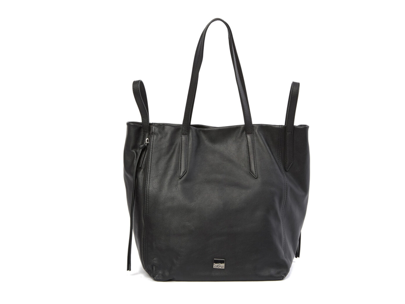 Kooba Leather Zip Tote Bag