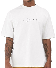 ASOS WHITE oversized t-shirt with chest print.