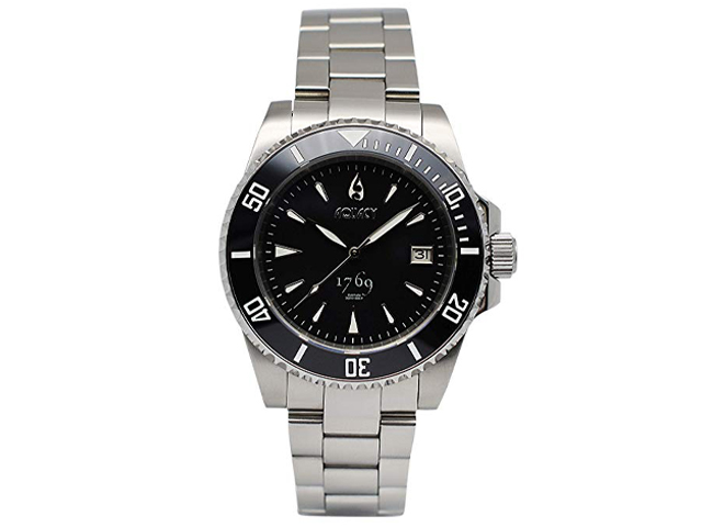 Aquacy 1769 HEI Matau Men's Automatic 300M Black Dive Watch.