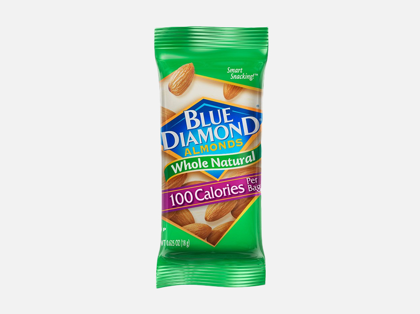 Blue Diamond Almonds Whole Natural Raw Almonds 100 Calorie On The Go Bags.