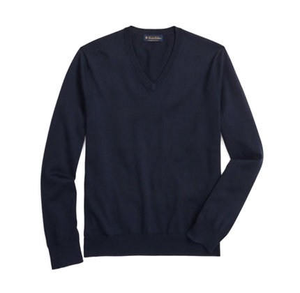 Brooks Brothers Supima® Cotton V-Neck Sweater.