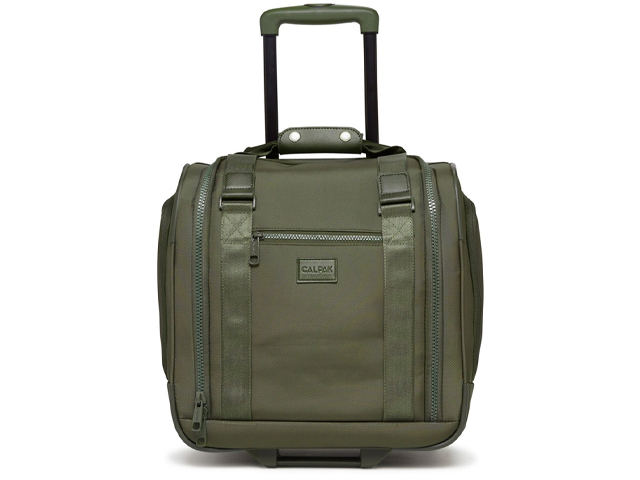 "CALPAK LUGGAGE Murphie 15.5"" Under-Seat Soft Sided Carry-On Suitcase."