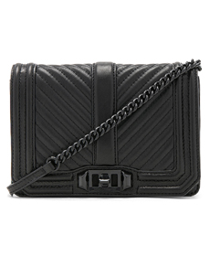 Chevron Quilted Small Love Crossbody Bag.