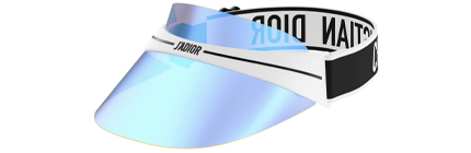 DIOR DIORCLUB1 METALLIC BLUE VISOR SUNGLASSES.