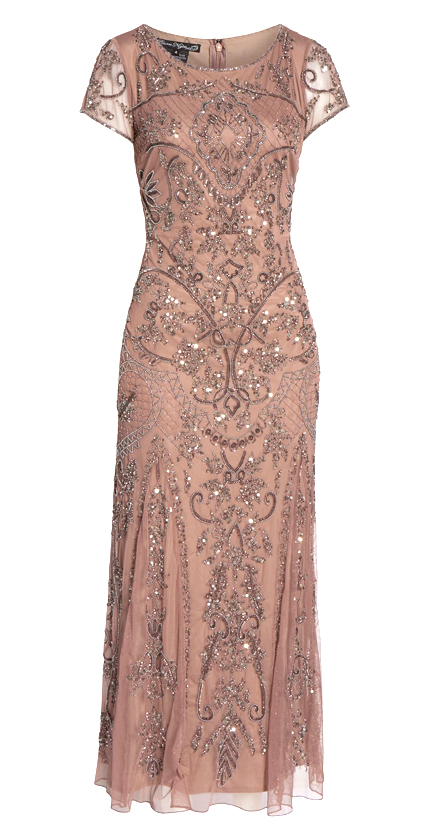 Embellished Mesh Gown PISARRO NIGHTS.