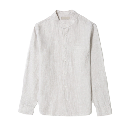 Everlane The Linen Band Collar Shirt.