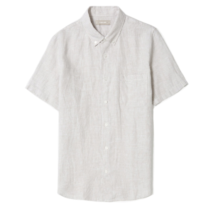Everlane The Linen Short-Sleeve Standard Fit Shirt.