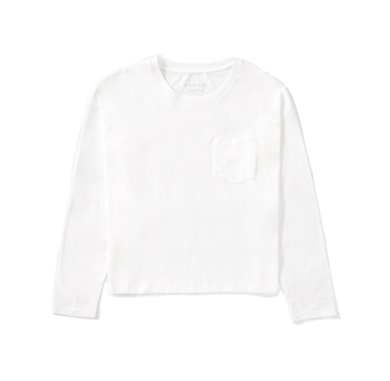 Everlane The Long-Sleeve Box-Cut Pocket Tee.
