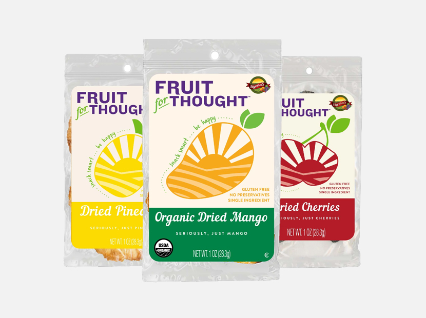 Fruit For Thought Healthy Non-GMO Dried Fruit Snacks Variety Pack.