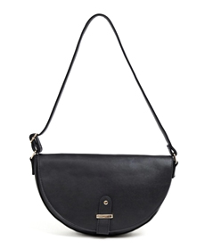 Glamorous black half moon shoulder bag.