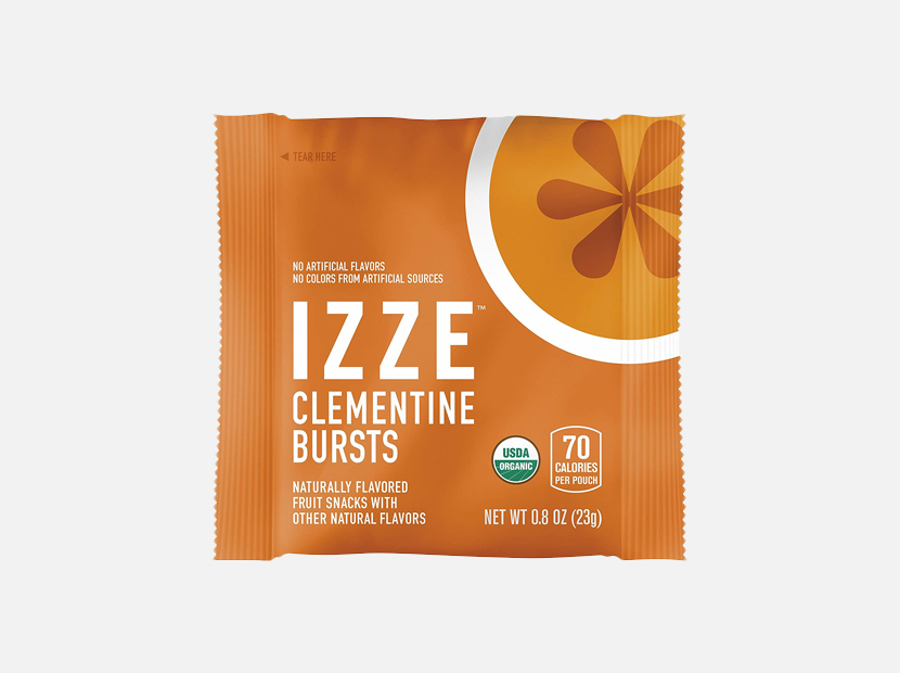 Izze Bursts Organic Fruit Snacks, Clementine, 0.8oz Pouches.