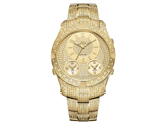 JBW Luxury Men's Jet Setter III 1.18 ctw Diamond Wrist Watch.