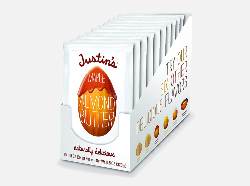 Justin's Maple Almond Butter Squeeze Packs.