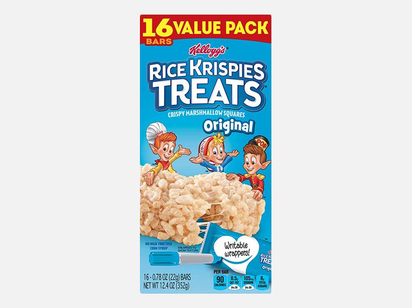 Kellogg's Rice Krispies Treats Original Marshmallow Bars.