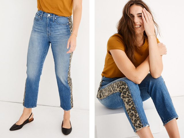 Leopard Tux Classic Straight Leg Crop Jeans MADEWELL.