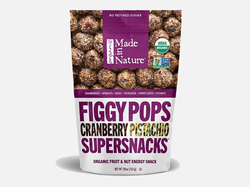 Made In Nature Organic Cranberry Pistachio Figgy Pops, 20oz.