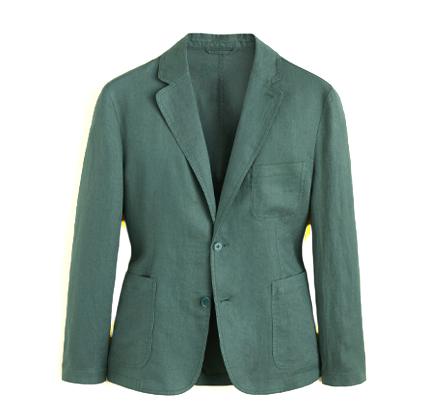 Mango Slim fit 100% linen blazer.