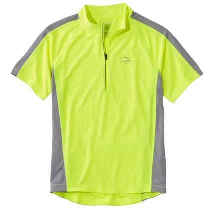 Men's L.L.Bean Comfort Cycling Jersey, Short-Sleeve.