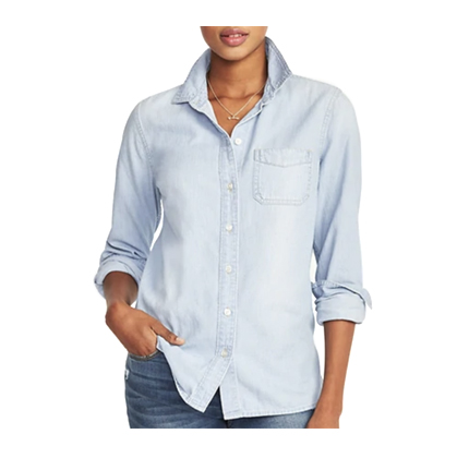 Old Navy Classic Chambray Shirt for Women.