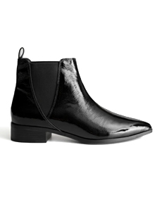 Patent Leather Chelsea Boots.