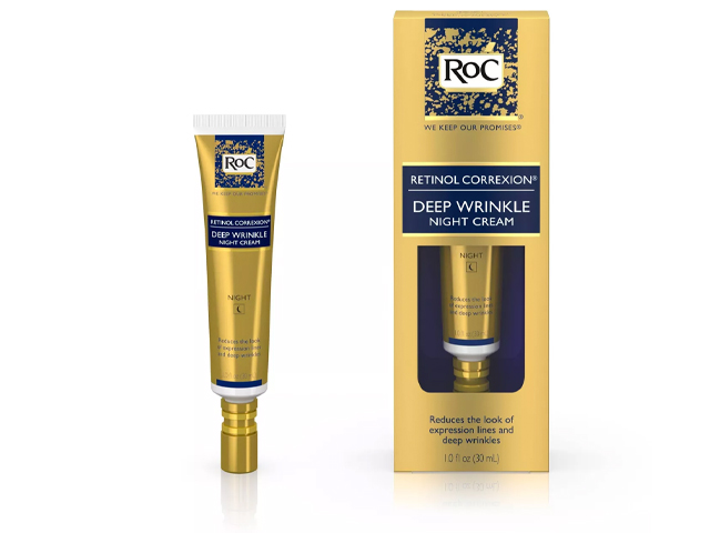 RoC Retinol Correxion Deep Wrinkle Anti-Aging Night Face Cream.