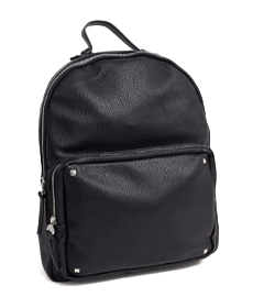 Stradivarius backpack with studs in black.