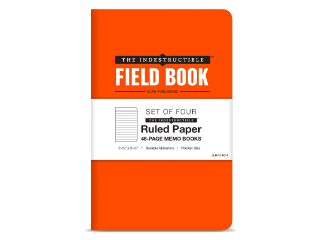 The Indestructible, Waterproof, Tearproof, Weatherproof Field Notebook.
