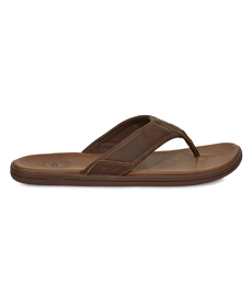 UGG SEASIDE LEATHER FLIP FLOP.