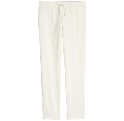 Warren Relaxed Fit Cotton & Linen Pants SCOTCH & SODA.