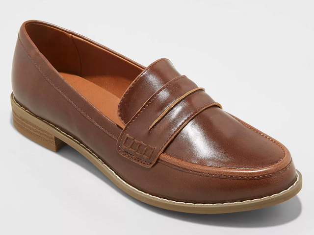 Women's Quinn Faux Leather Closed Back Loafers.