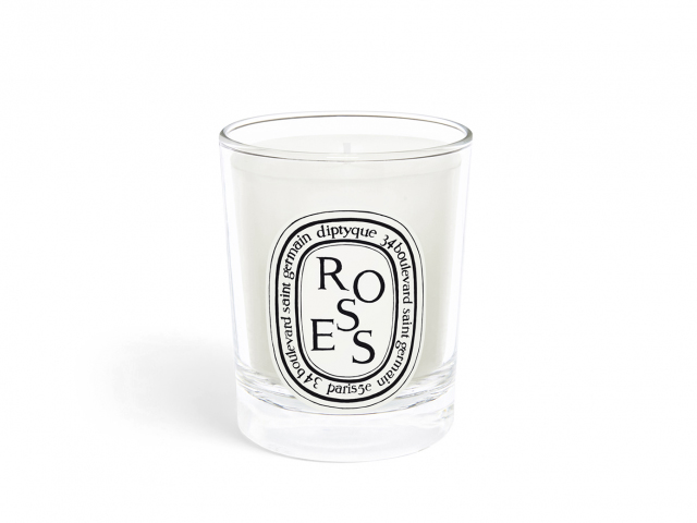 diptyqueparis roses small candle.
