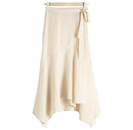 & other stories Striped Handkerchief Midi Skirt.