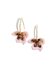 ORCHID RESIN DROP EARRINGS.