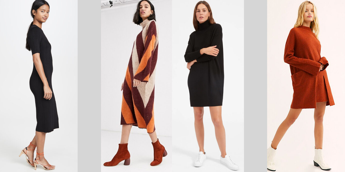 Best Sweater Dresses To Live In All Fall and Winter.