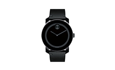 'Bold' Leather Strap Watch, 42mm MOVADO.