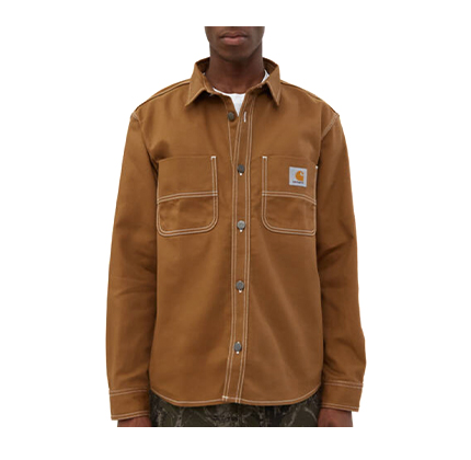 Carhartt WIP Chalk Shirt Jacket in Hamilton Brown.