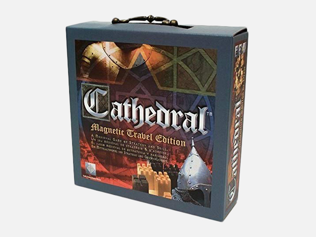 Cathedral Wood Portable Travel Strategy Board Game.