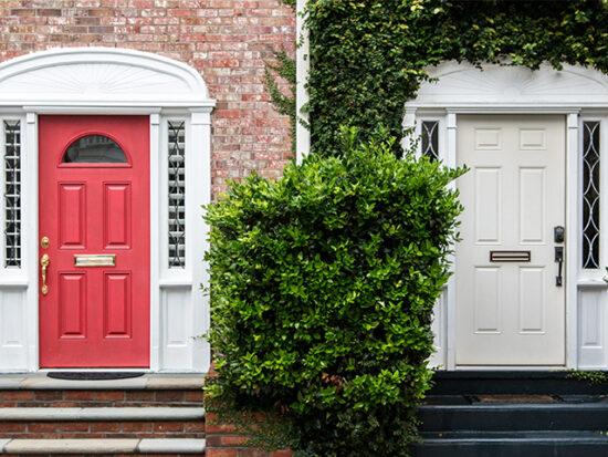 Doorways on a street in Charleston.