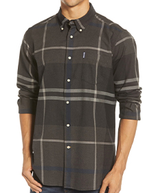 Dunoon Tailored Fit Button-Down Cotton Shirt BARBOUR.