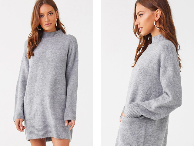 Forever21 Pocket Sweater Dress.